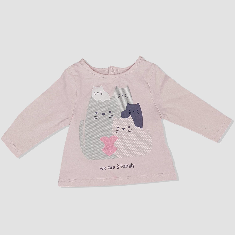 1d8be73c1737c Sweat shirt rose OBAIBI bébé fille
