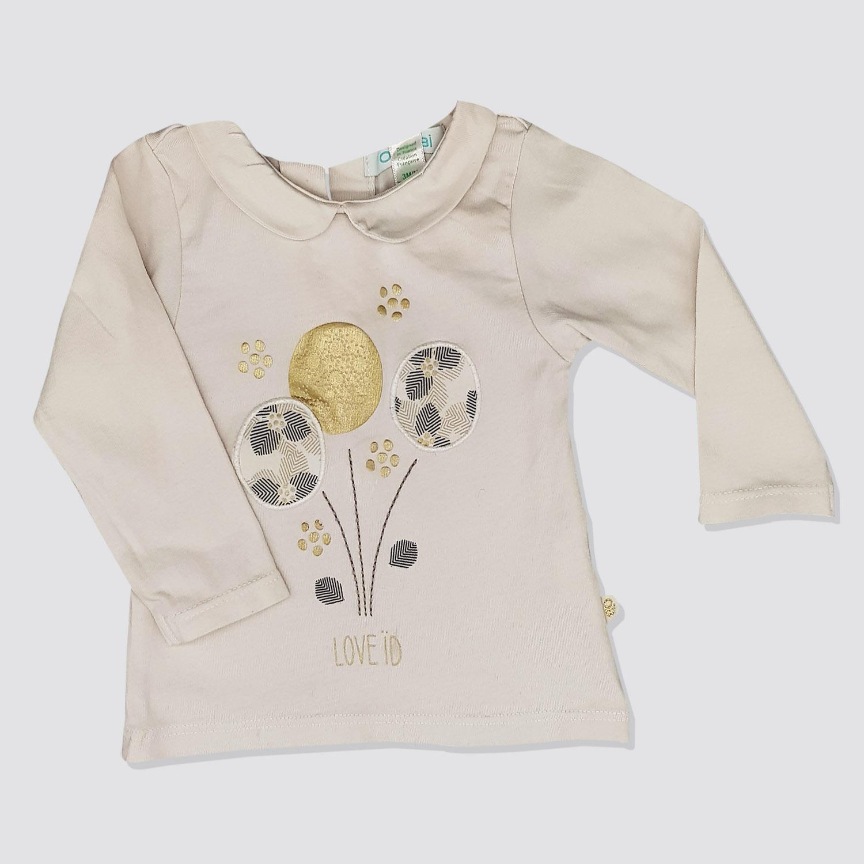 9455bb5fe8f5a Sweat shirt beige bébé fille – yelaa