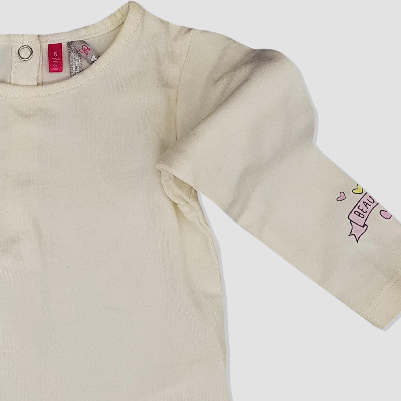 8931f1115d502 Sweat shirt beige Orchestra bébé fille - yelaa