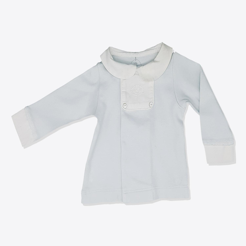 5aba1c4ee55e0 Sweat shirt bleu col claudine bébé fille - yelaa