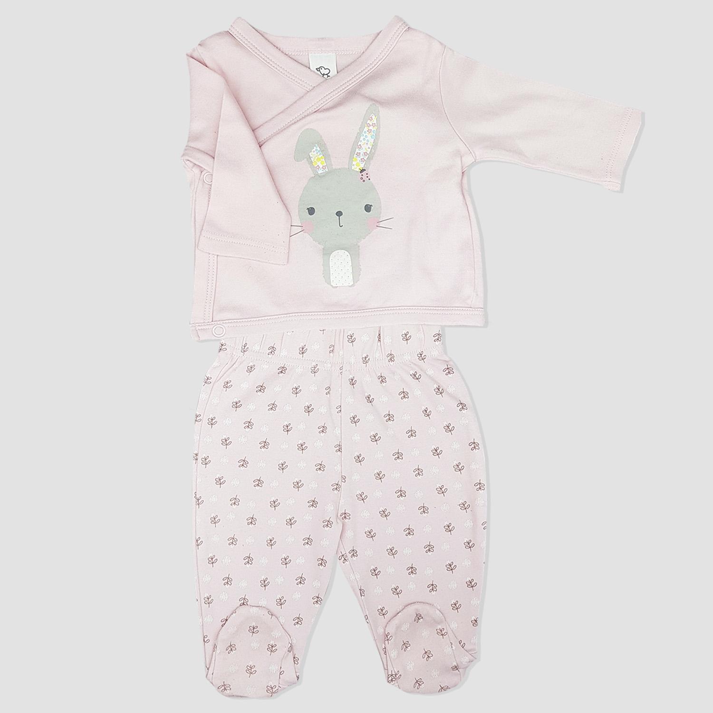 0059c4c45622e Ensemble violet clair C A sweat-shirt et legging bébé fille - yelaa