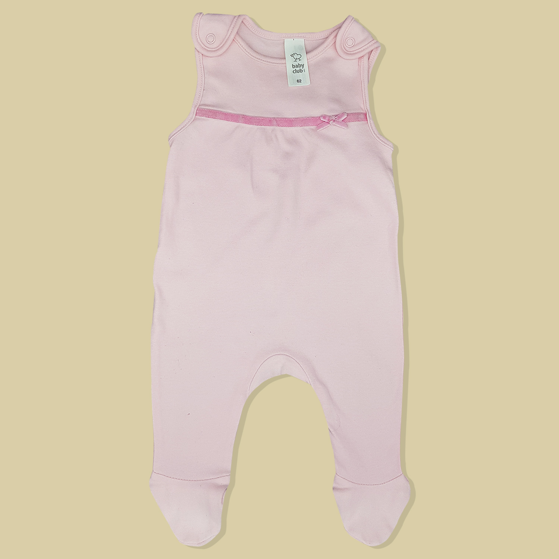83fe3e51ec9e7 Ensemble grenouillère rose sweat-shirt blanc bébé fille